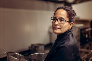 Fabiana Arévalo en Baudilio restaurante de Valderrobres